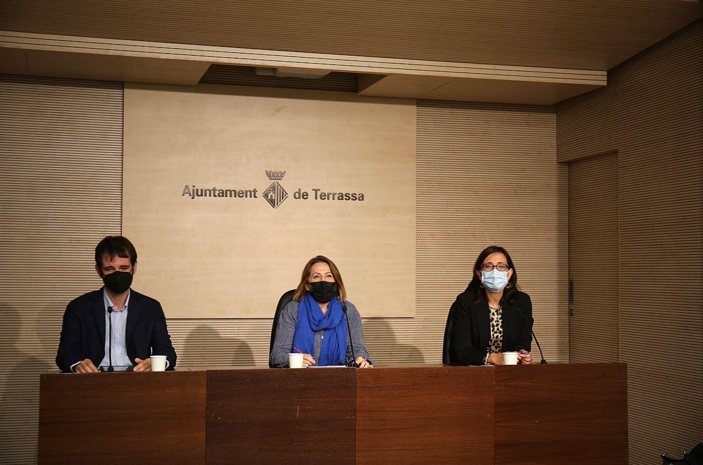 Presentació del projecte Terrassa, Ciutat compassiva amb la regidora Mónica Polo, Oncolliga i la UIC   Aj. Terrassa