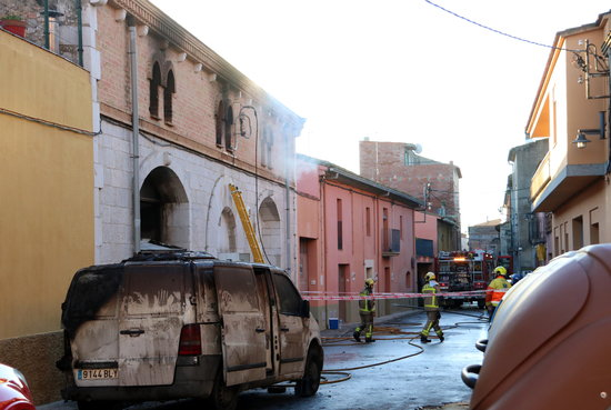 L'empresa d'elaboració d'embotits de Vilafant que s'ha cremat