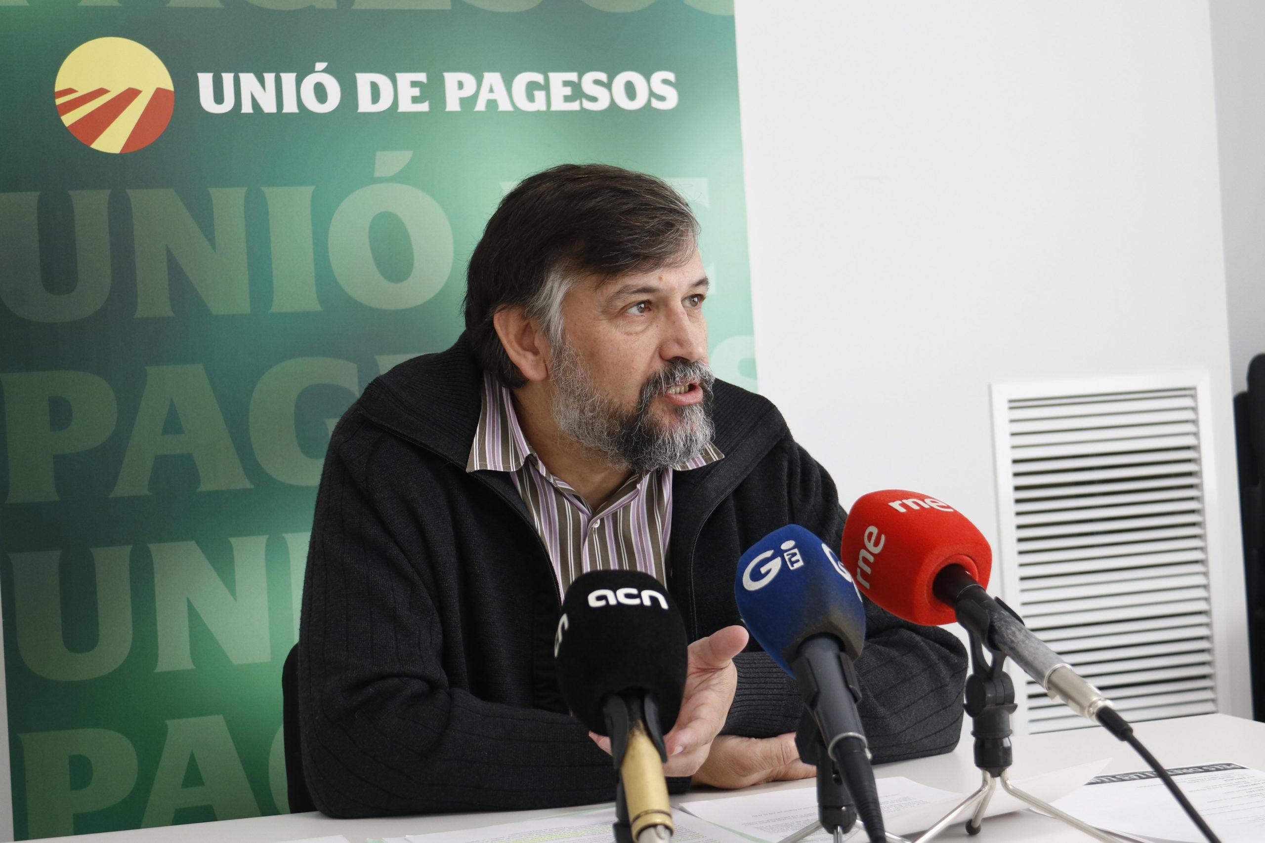 El coordinador nacional d'Unió de Pagesos, Joan Caball | ACN