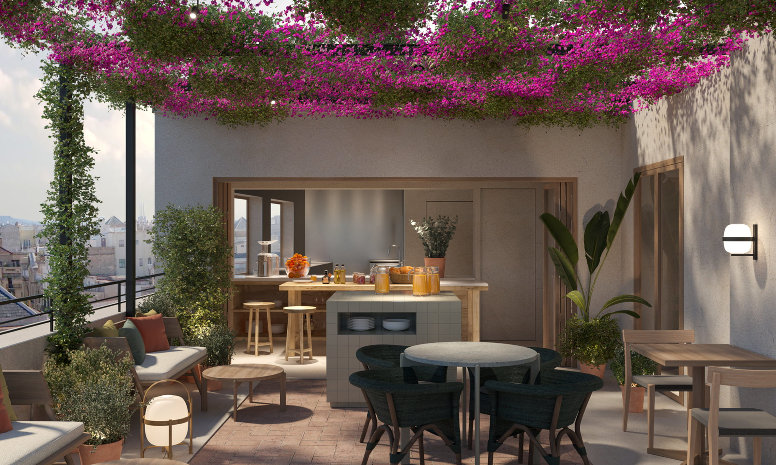 Projecció de la terrassa de l'hotel boutique dels germans Roca a Girona   ACN