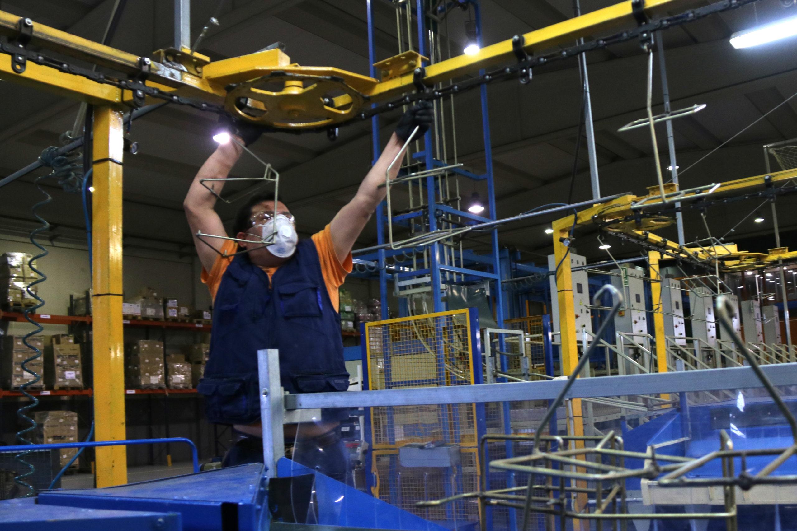 Un operari de la cooperativa Soldebre treballant al magatzem de cítrics | ACN