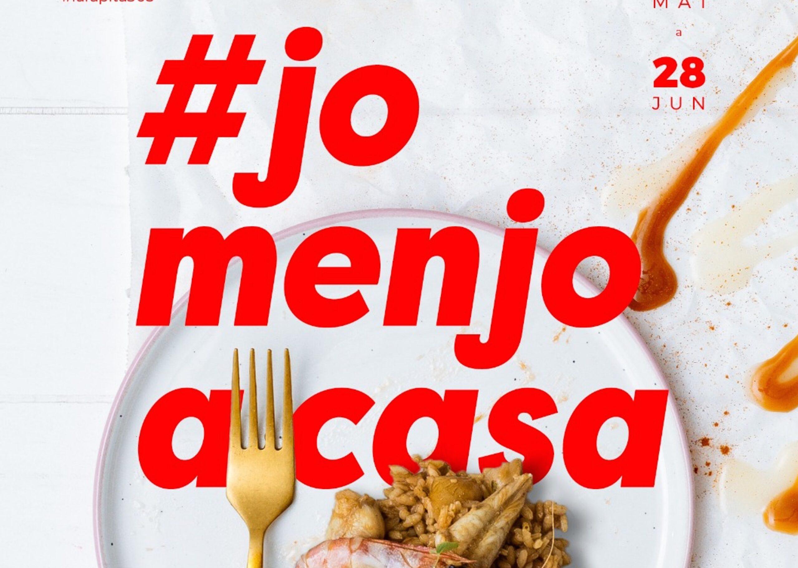 Cartell de les jornades gastronòmiques #joemquedoacasa que han impulsat els restauradors de la Ràpita