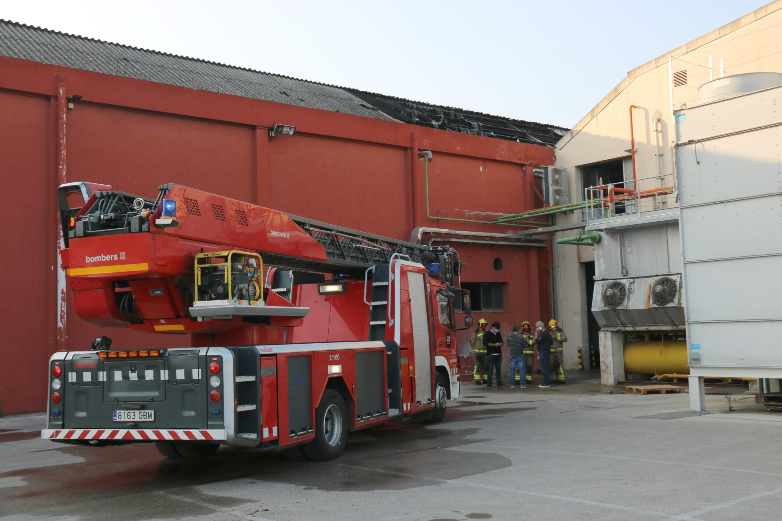 La zona on ha tingut lloc l'incendi del magatzem de fruita de Bordils | ACN