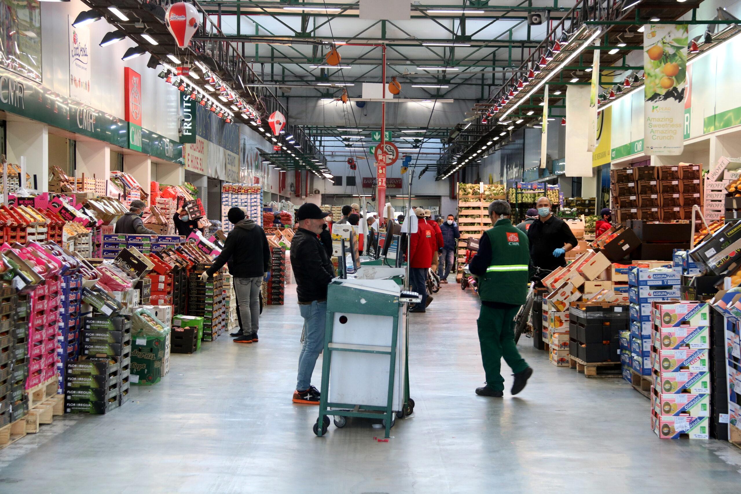 Un dels pavellons del mercat central de fruites hortalisses de Mercabarna | ACN