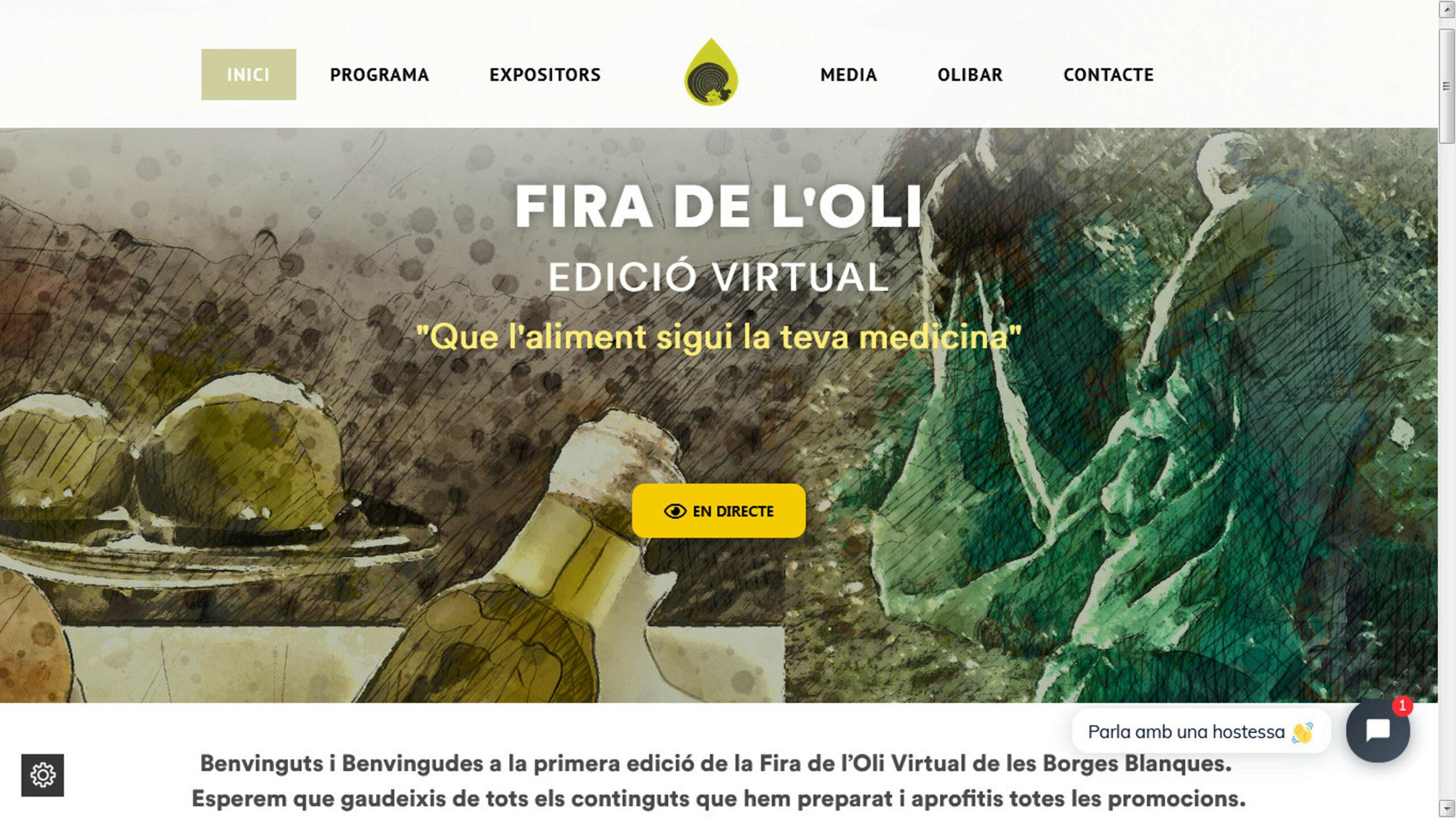 Captura de pantalla del web de la 58a edició de la Fira de l'Oli i les Garrigues | ACN