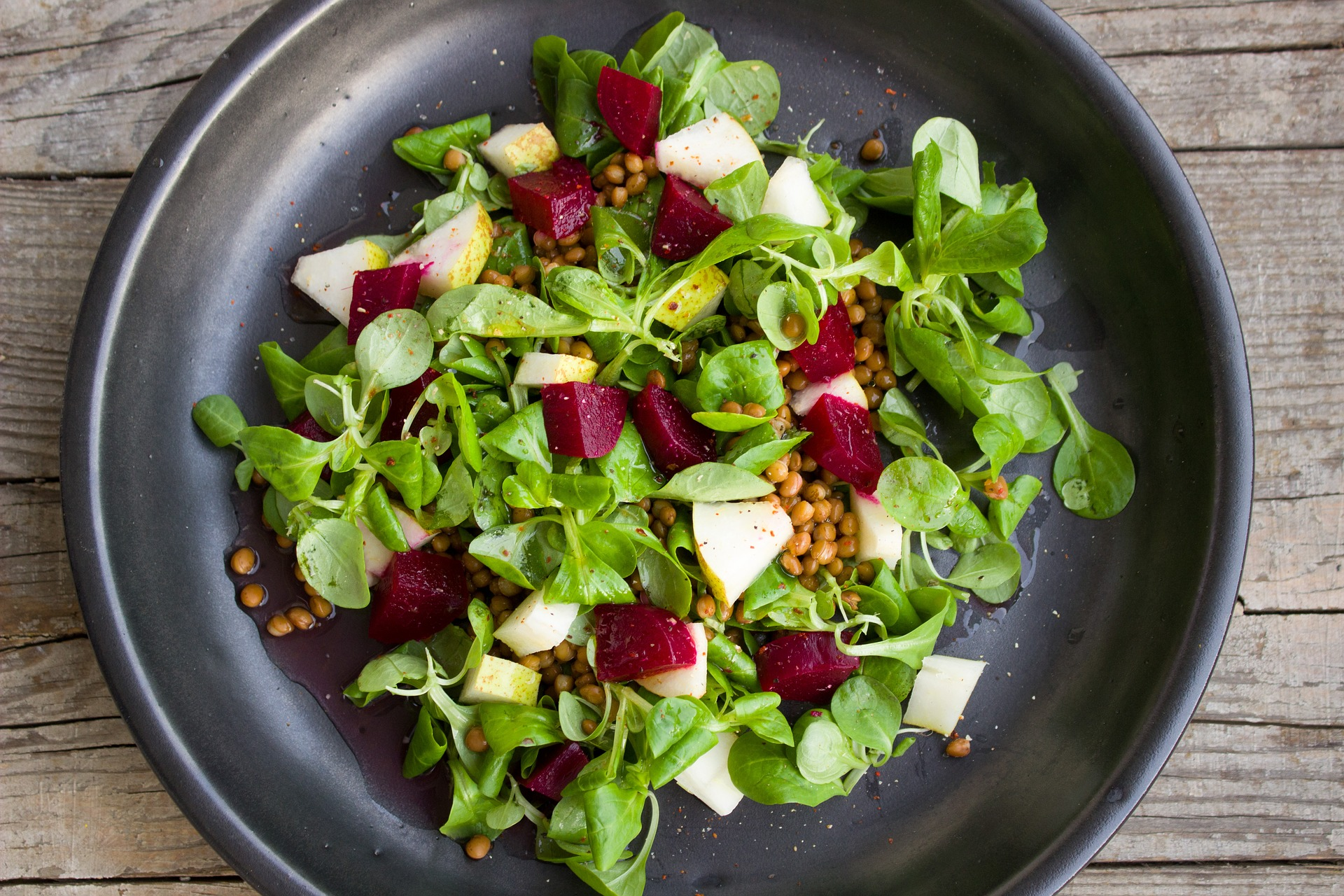 Un plat d'amanida | Pixabay
