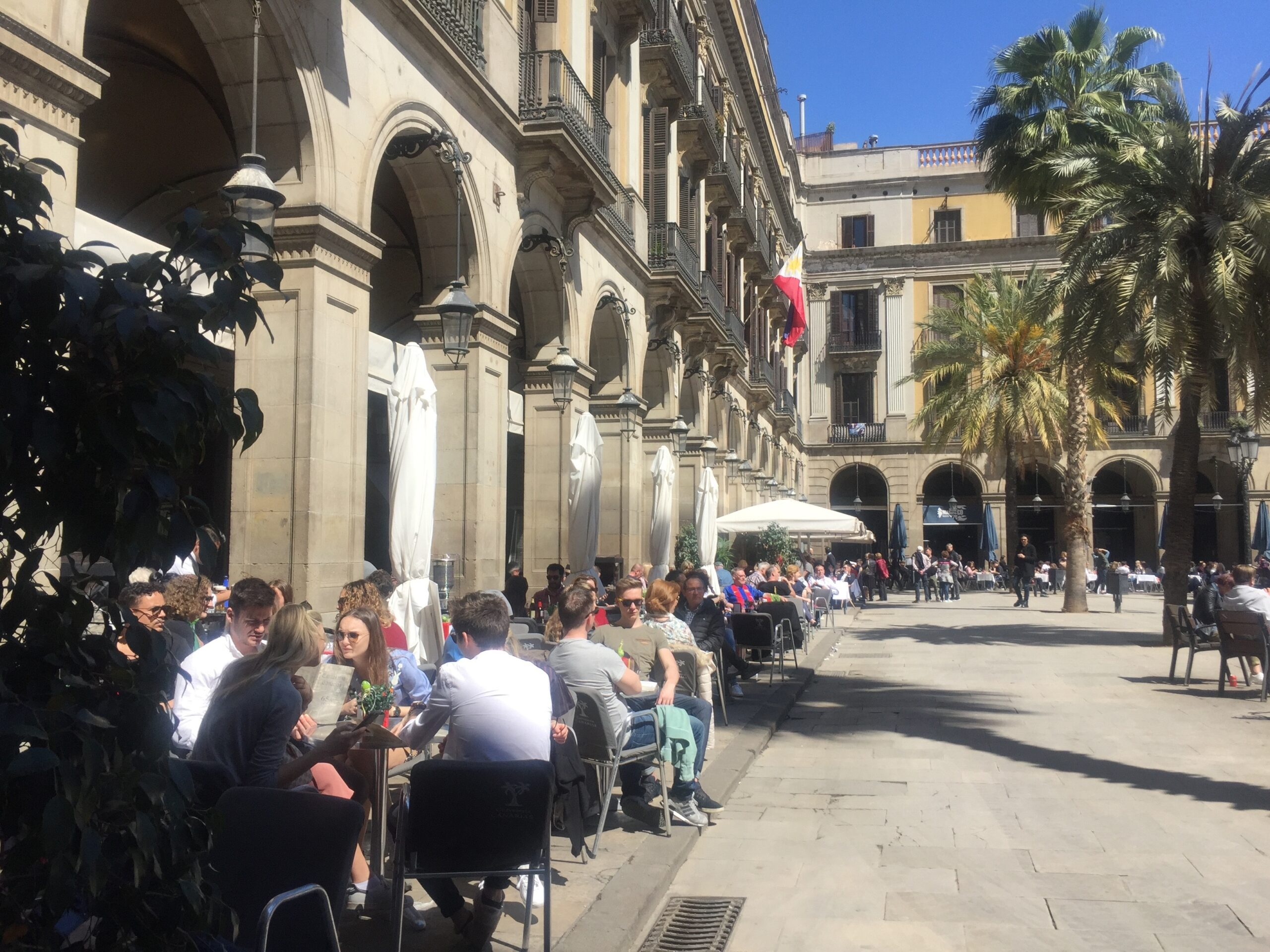 Terrasses de la plaça Reial de Barcelona | Europa Press