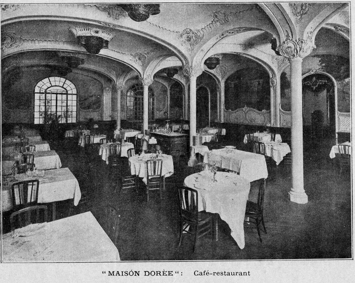 Un dels menjadors del restaurant Maison Dorée de Barcelona | Viquipèdia