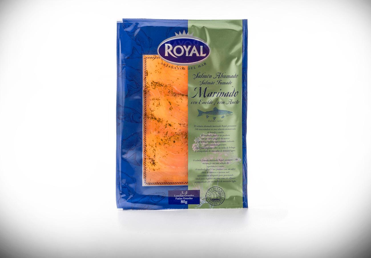 El salmó fumat marinat amb aneto de la marca Royal
