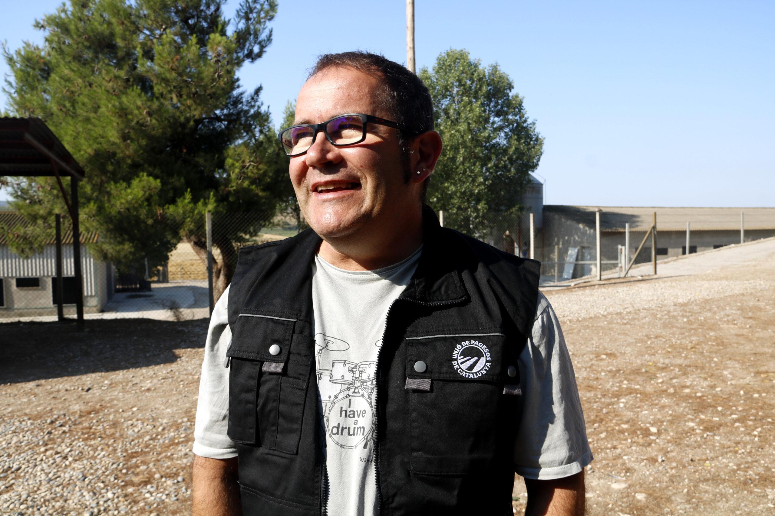 El responsable d'explotacions ramaderes d'UP, Jordi Armengol, a Juneda | ACN