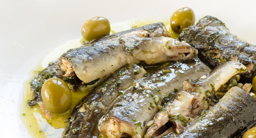 Anguilas en salsa d'olives | Angules Roset