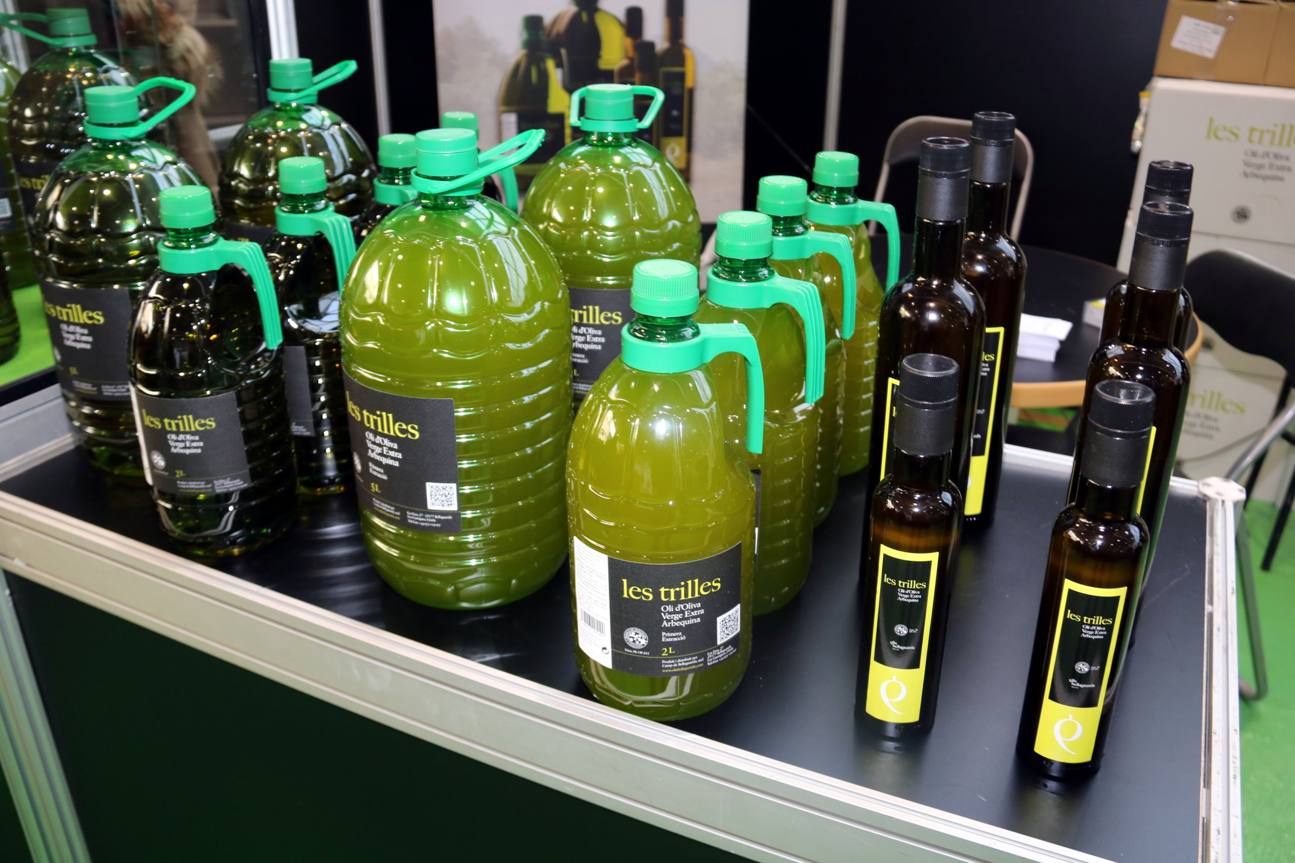 Ampolles d'oli d'oliva de la cooperativa de Bellaguarda | ACN