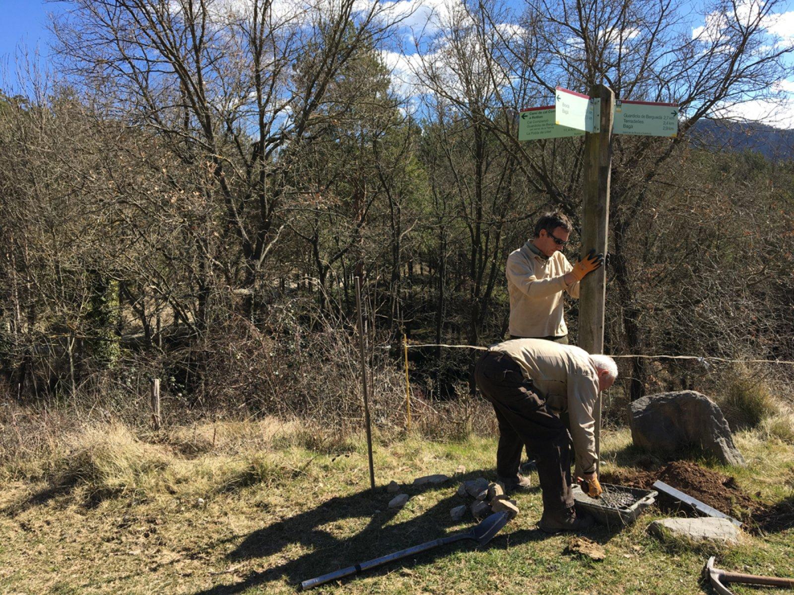 Nova senyalització al sender recuperat per accedir al Parc Natural del Cadí-Moixeró des de Guardiola de Berguedà