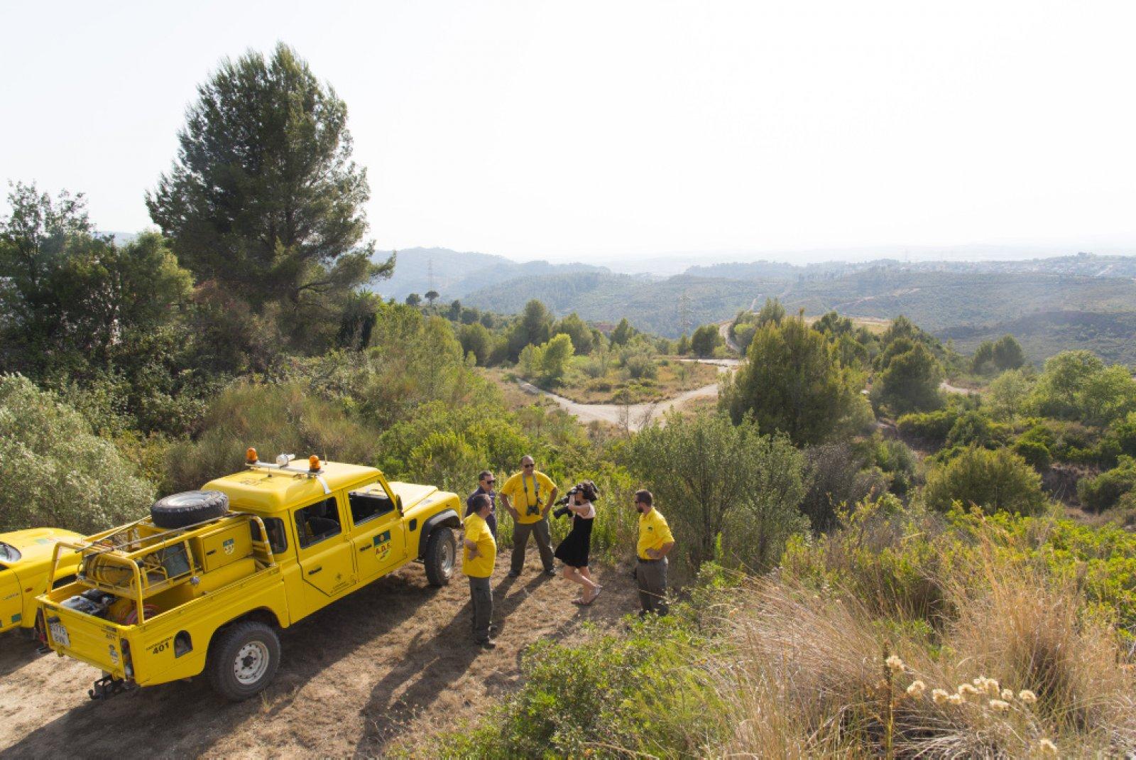 L'ADF de Castellbisbal fent vigilància preventiva d'incendis forestals