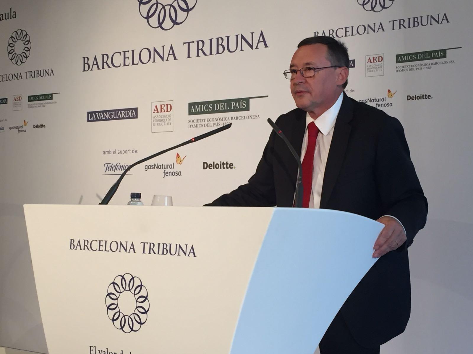 El president executiu d'Aigües de Barcelona, Àngel Simon