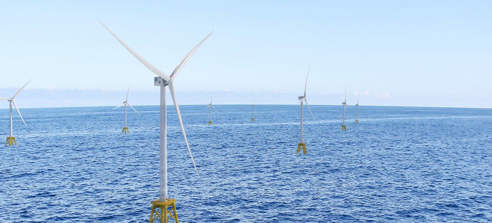 Imatge promocional de les turbines Haliade-X