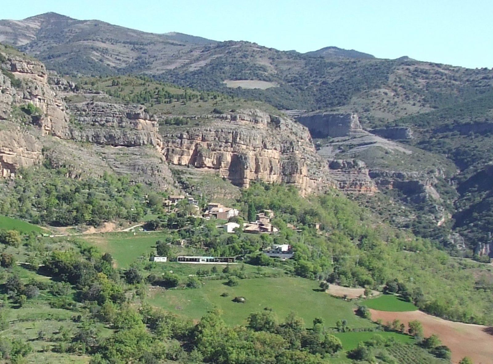 Vista general de Gurp, al Pallars Jussà