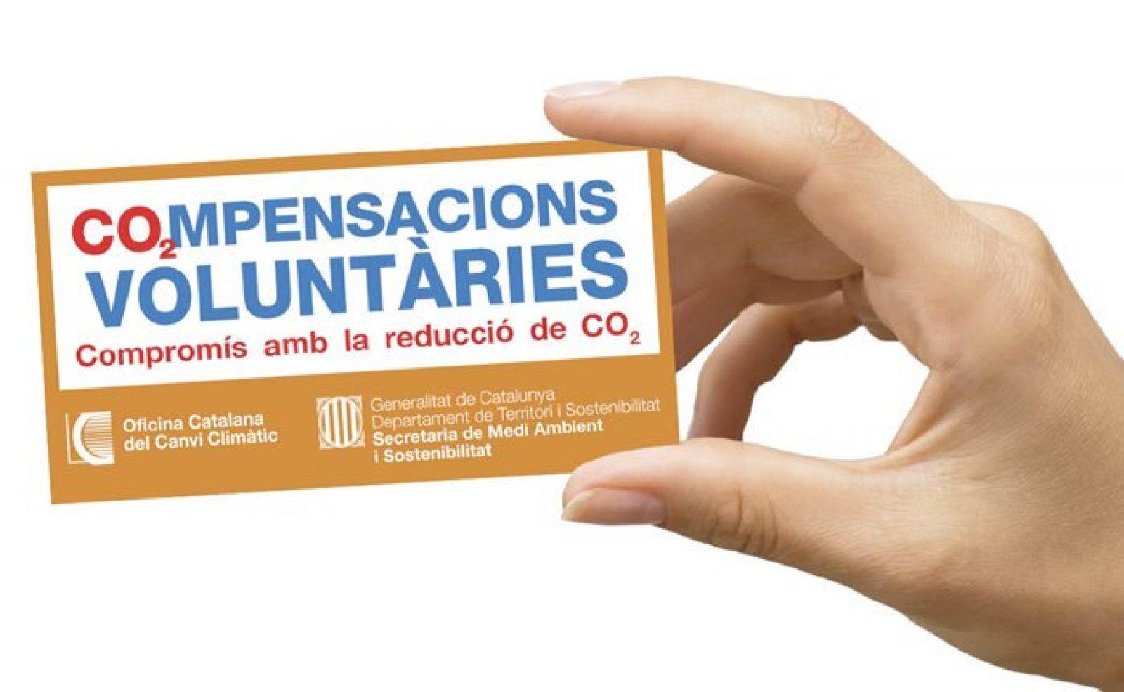 Imatge promocional del programa de compensacions voluntàries
