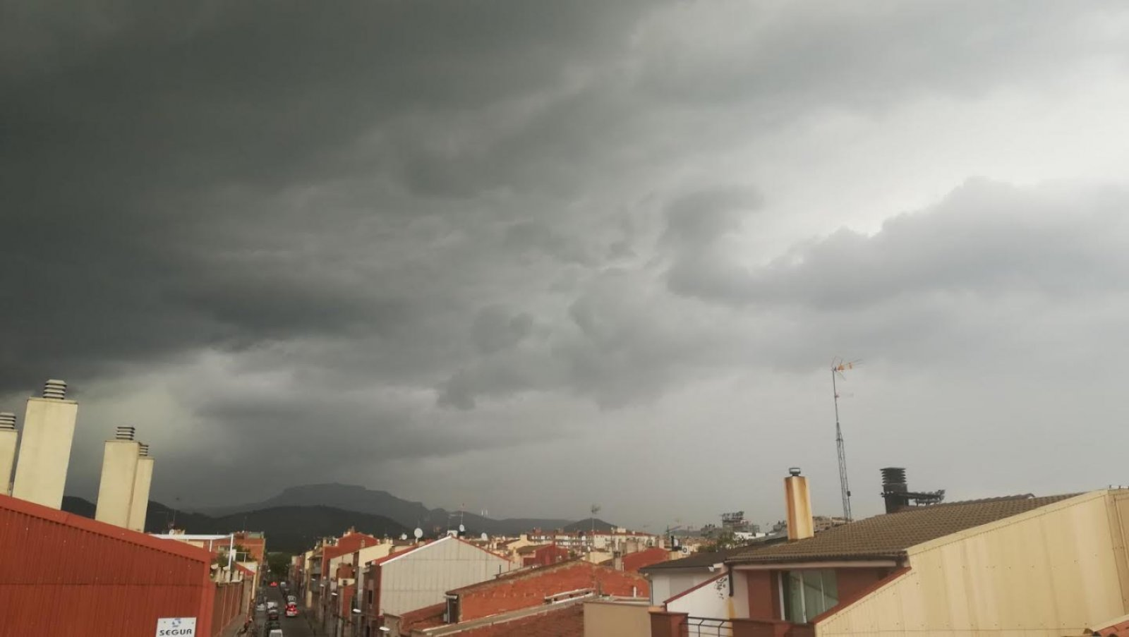 Cel de tempesta a Terrassa
