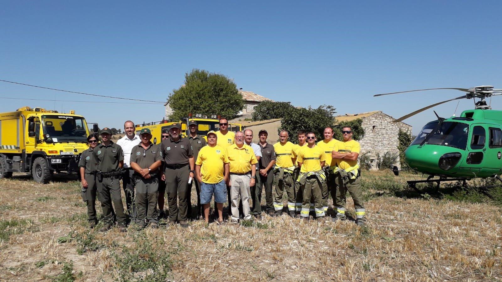 Agents Rurals, el Grup Especialitzat en Prevenció d'Incendis Forestals, Associacions de Defensa Forestal i pagesos han participat en aquesta campanya