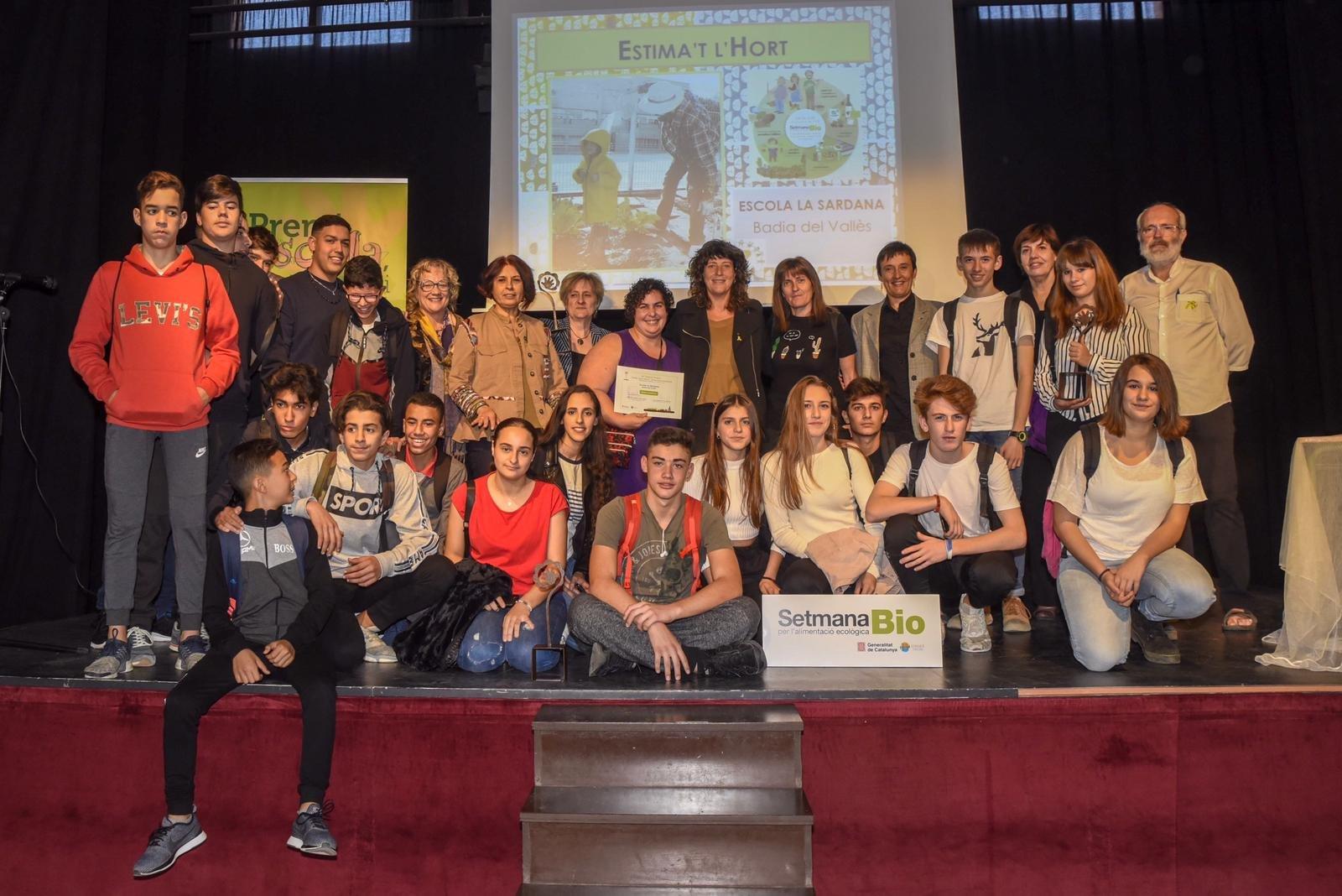 Els guanyadors del VI Premi Escola, Agricultura i Alimentació Ecològica