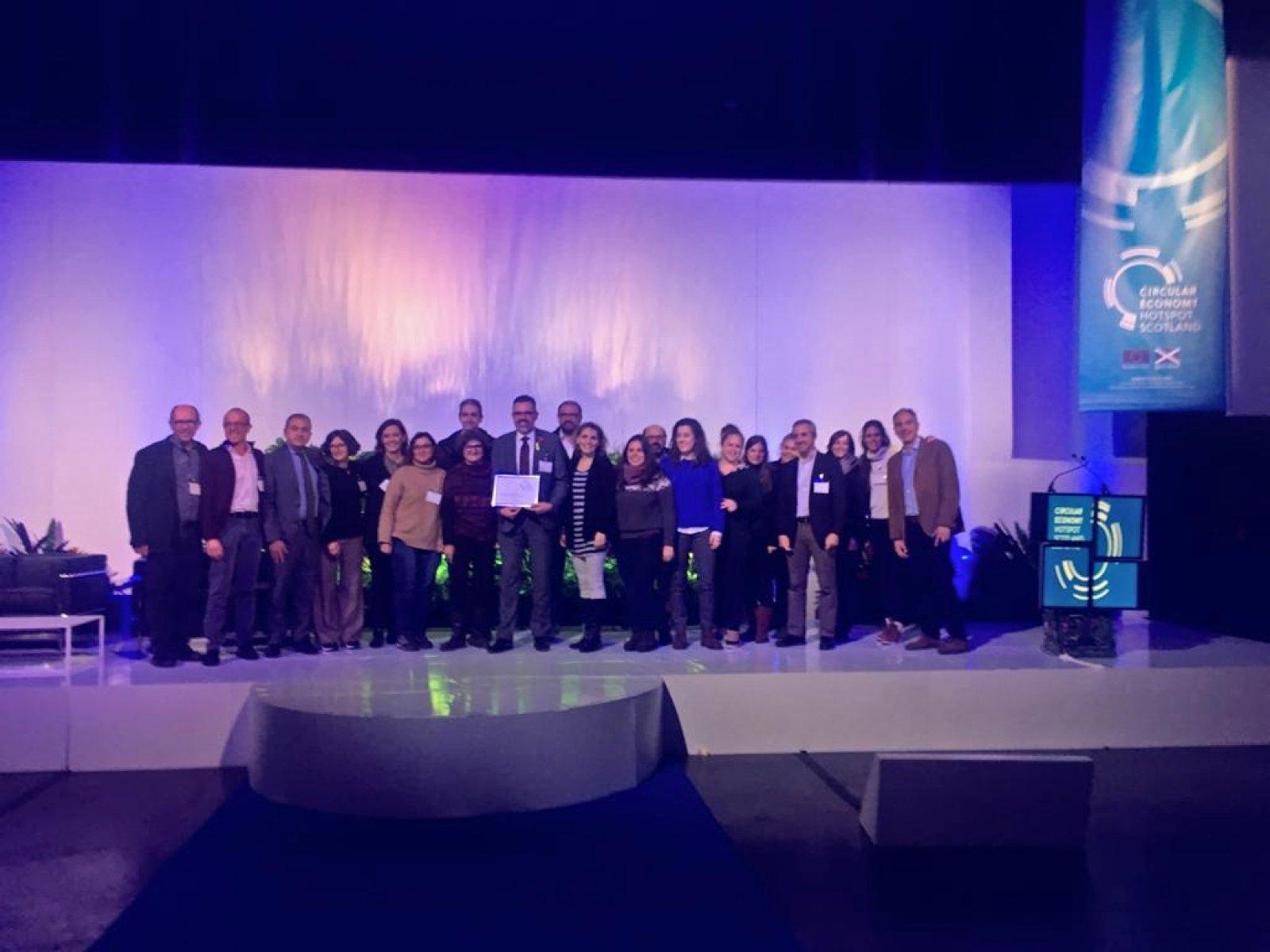 La delegació catalana al Circular Economy Hotspot 2018 (Glasgow, Escòcia)