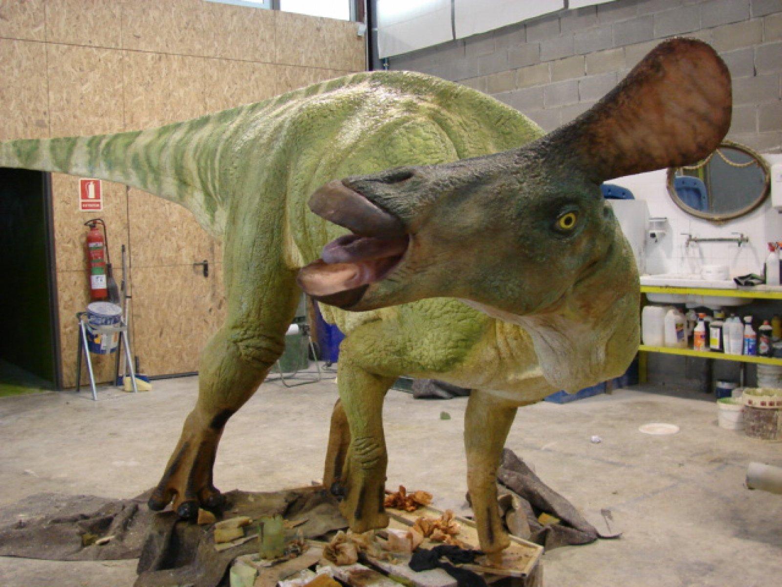 Reproducció dels hadrosaures que van habitar el Pallars Jussà