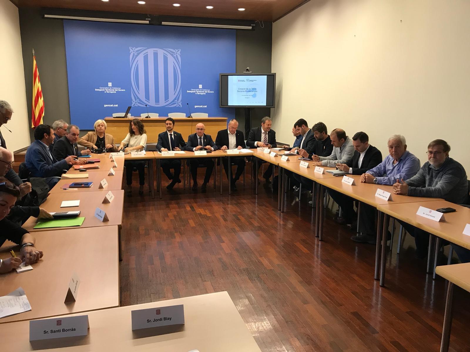 Reunió inaugural de la Taula del Siurana-Riudecanyes