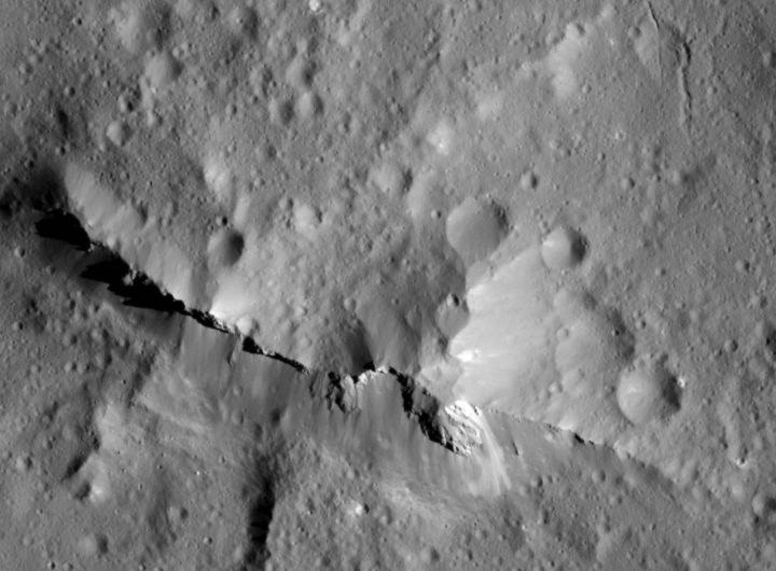 La superfície del planeta nan Ceres