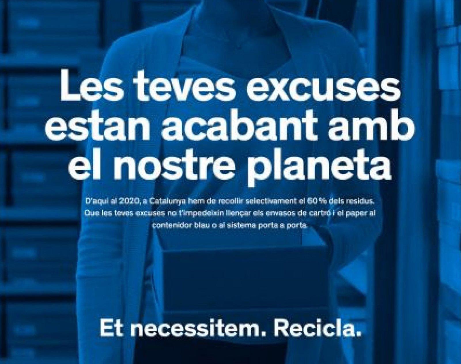 Un dels cartells de la campanya