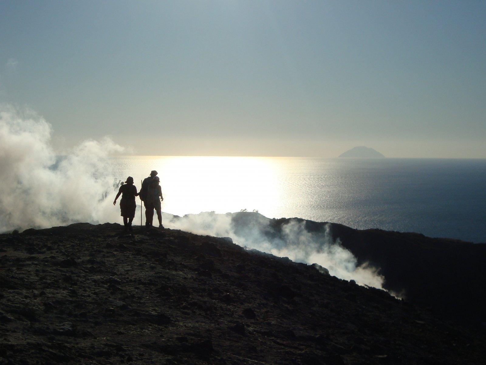 Cràter del volcà de l'illa de Vulcano (Illes Eòlies, Itàlia)
