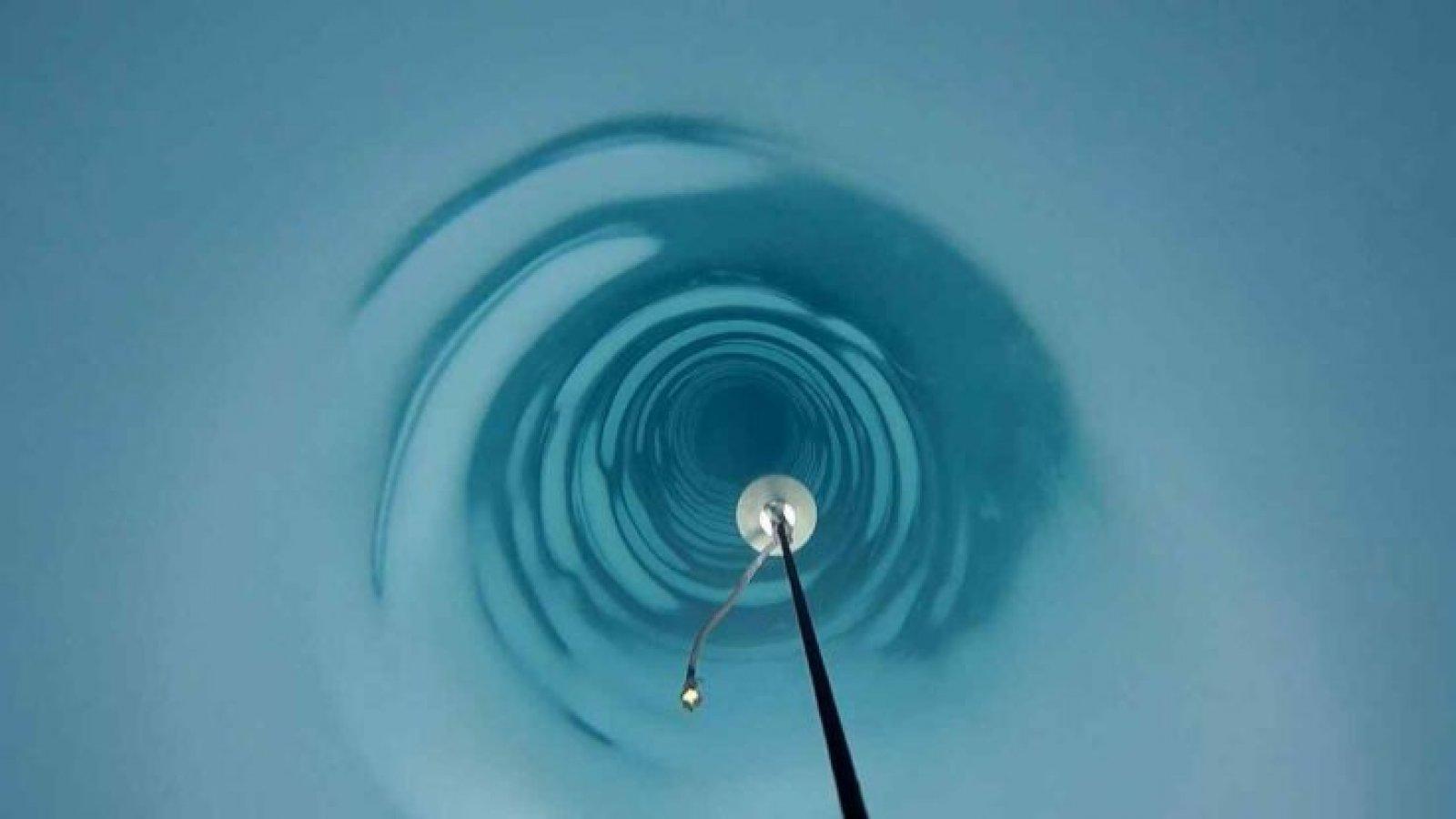 El forat realitzat per l'equip britànic al gel antàrtic