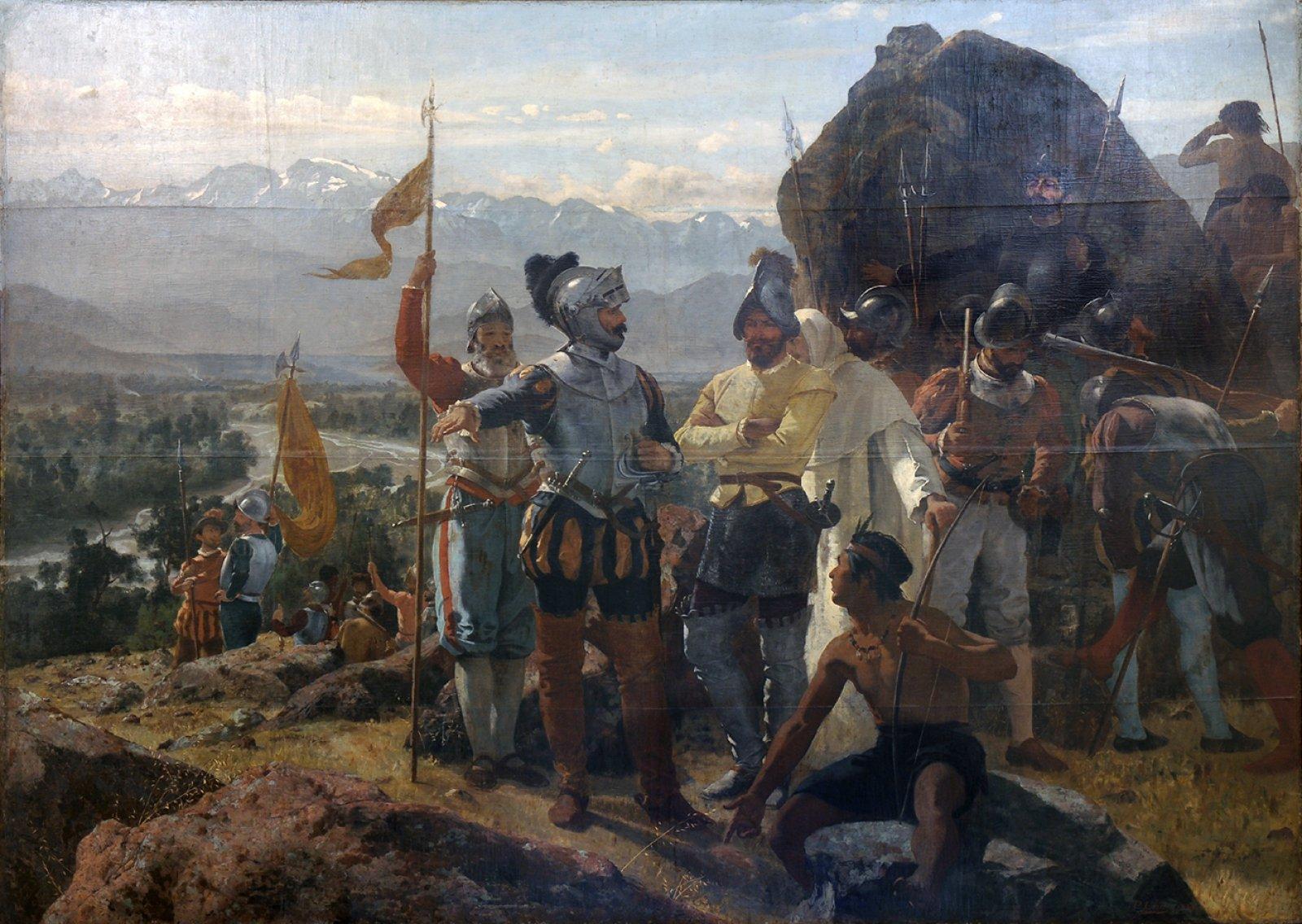 La fundació de Santiago (1888), obra de Pedro Francisco Lira Rencoret