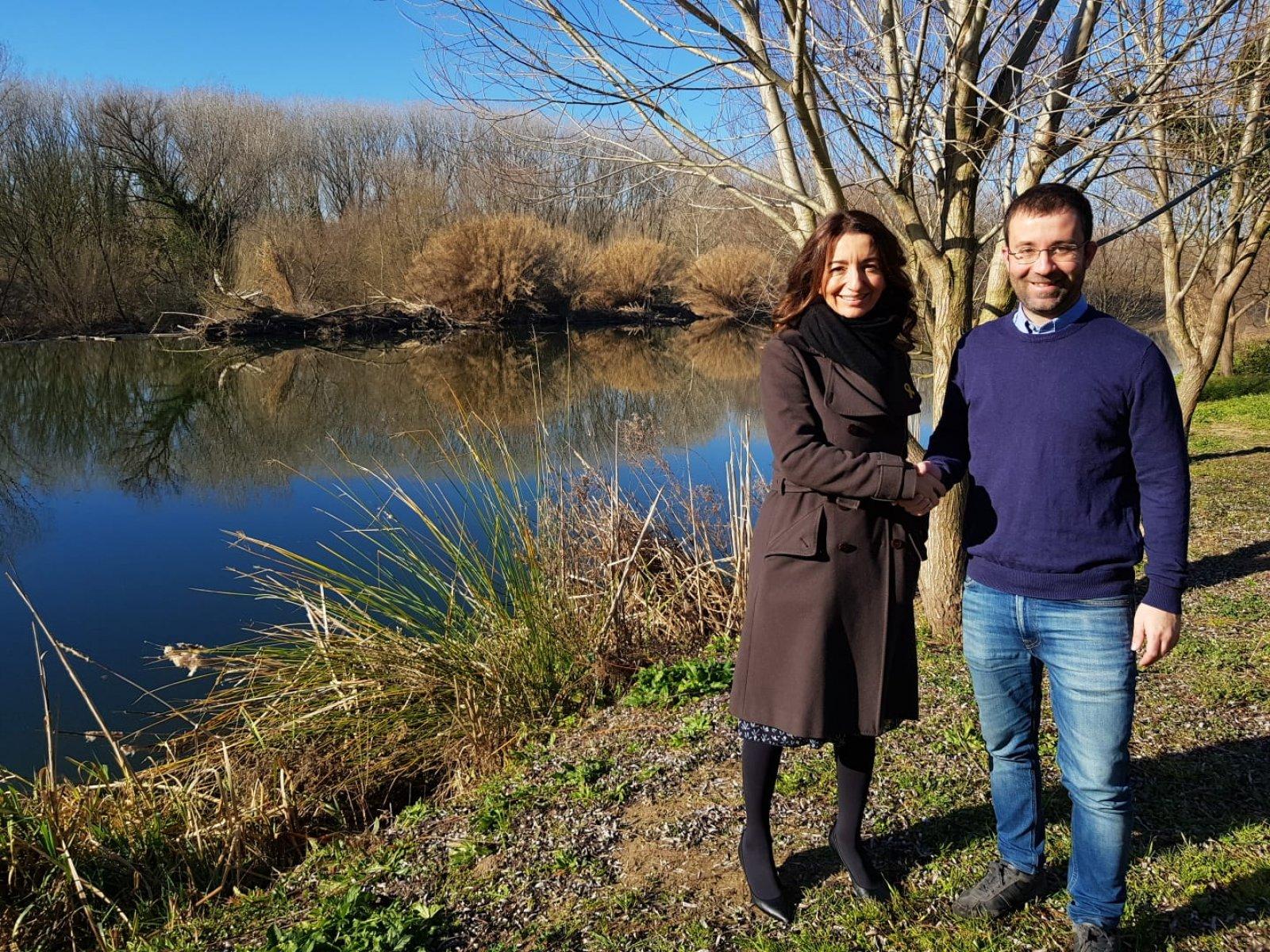 Marta Subirà i Joaquim Roca, oficialitzant l'acord