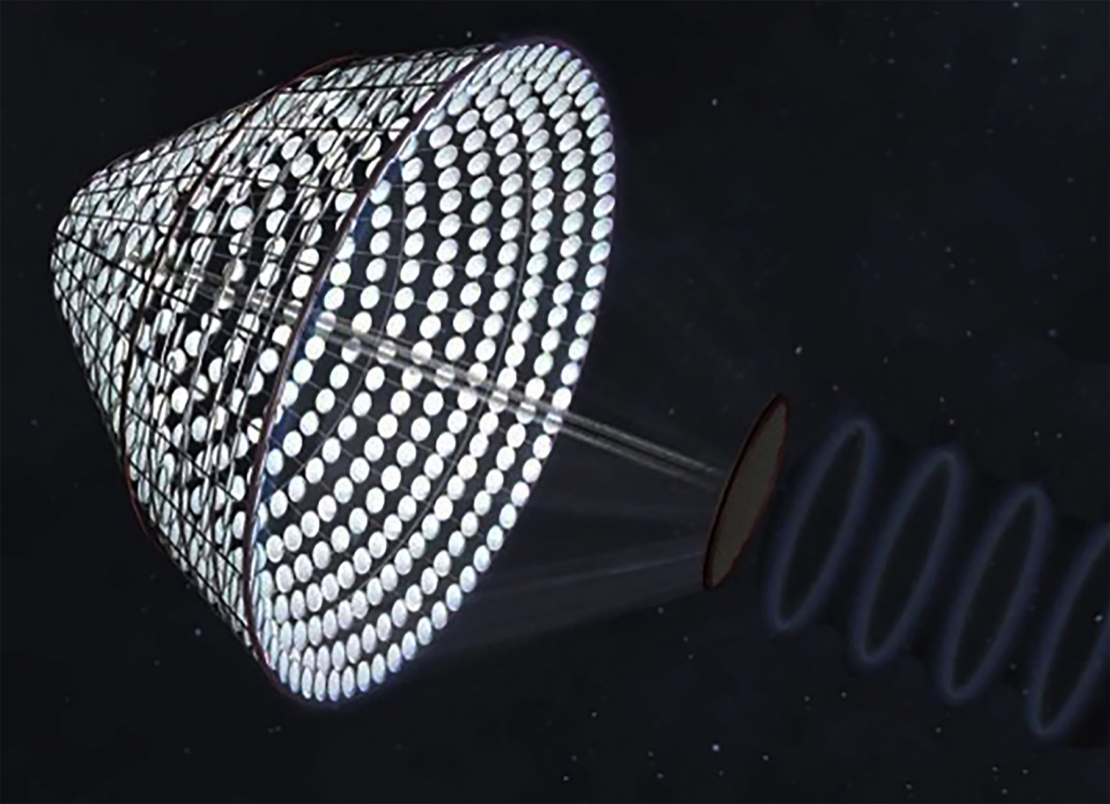 Un possible model de central d'energia solar a l'espai