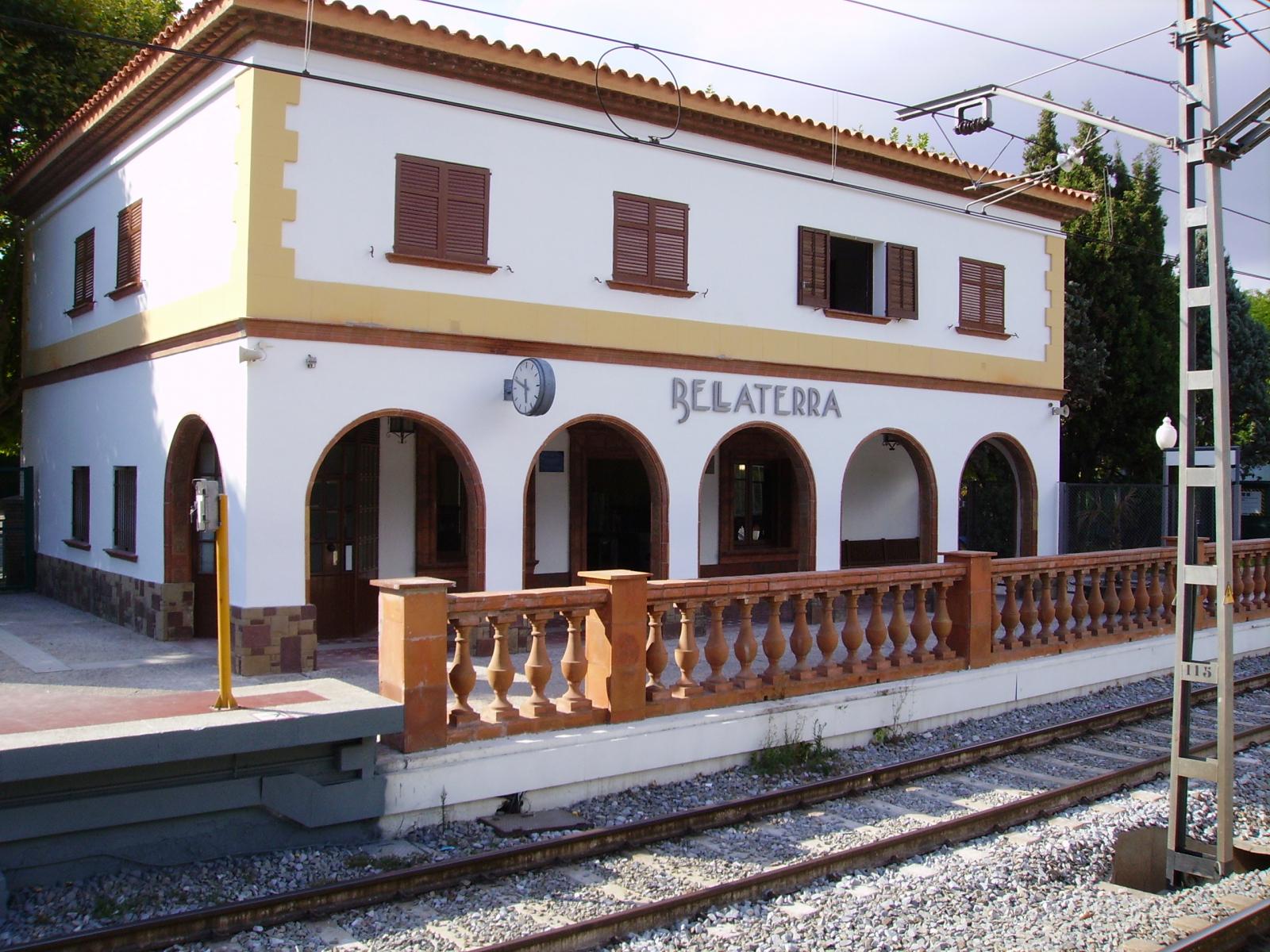 L'estació de Ferrocarrils de la Generalitat de Catalunya a Bellaterra