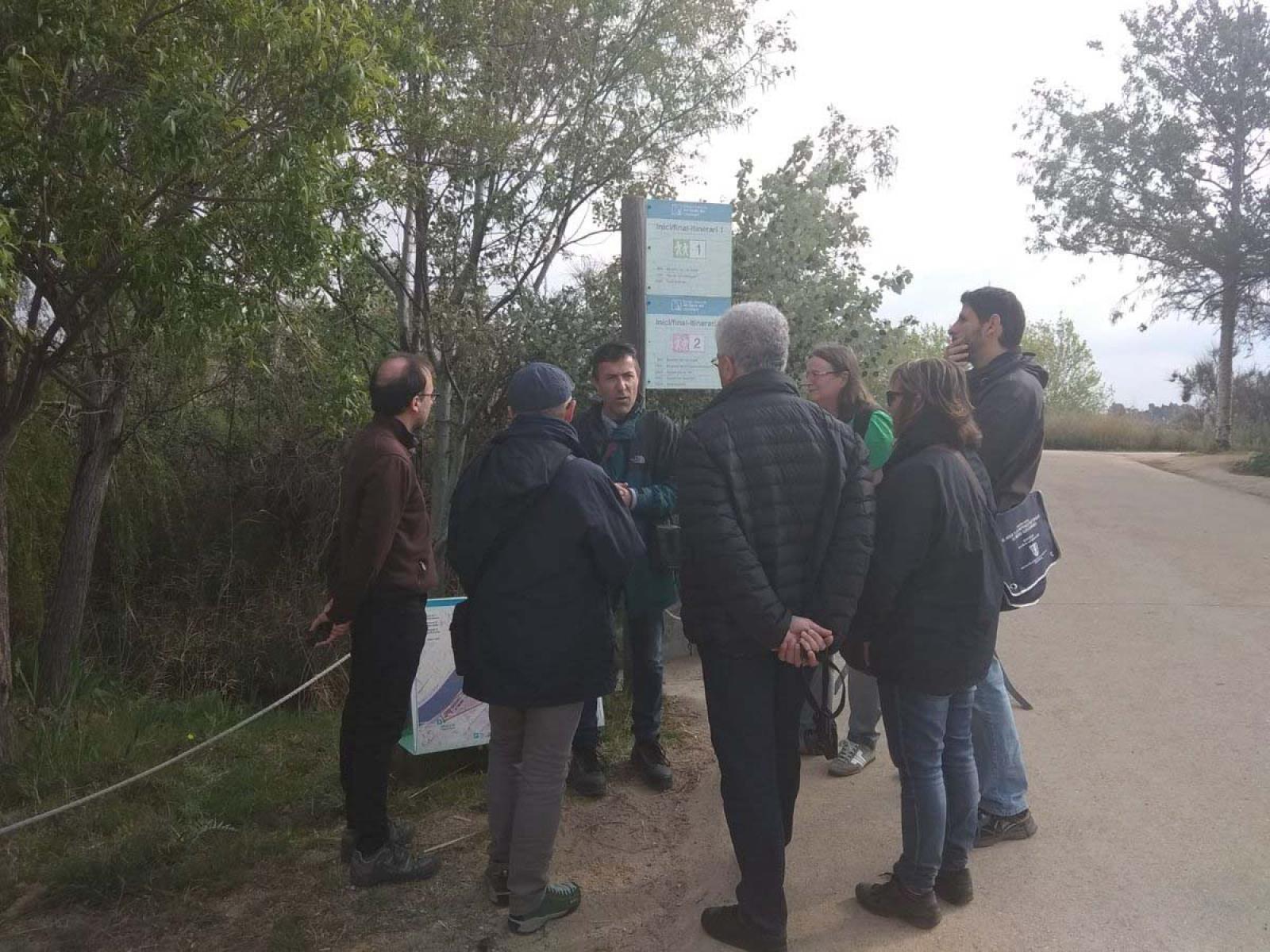 La delegació a l'espai natural del Delta del Llobregat