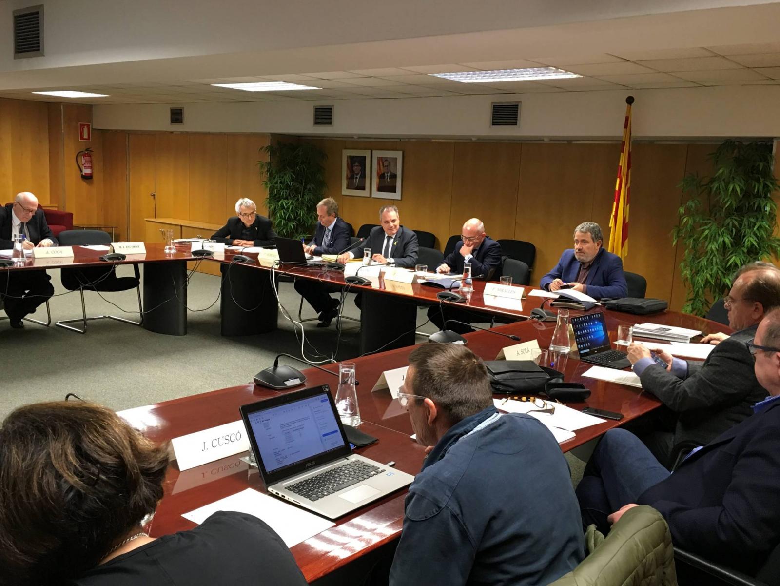 Reunió del consell d'administració de l'Agència Catalana de l'Aigua