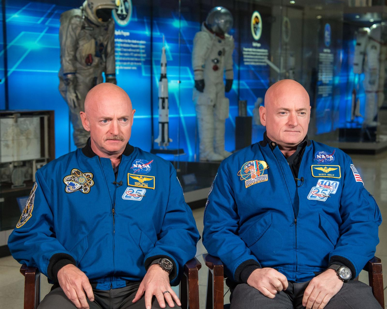 Els astronautes Scott i Mark Kelly, bessons idèntics