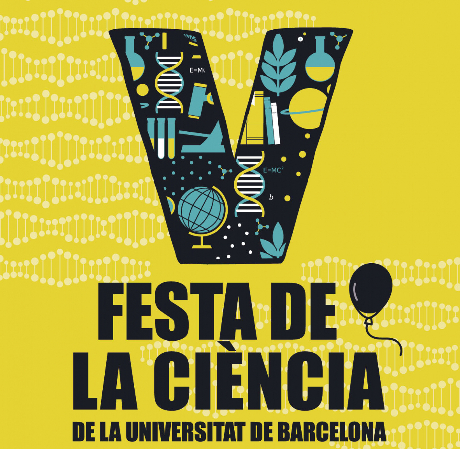 Cartell de la V Festa de la Ciència de la UB