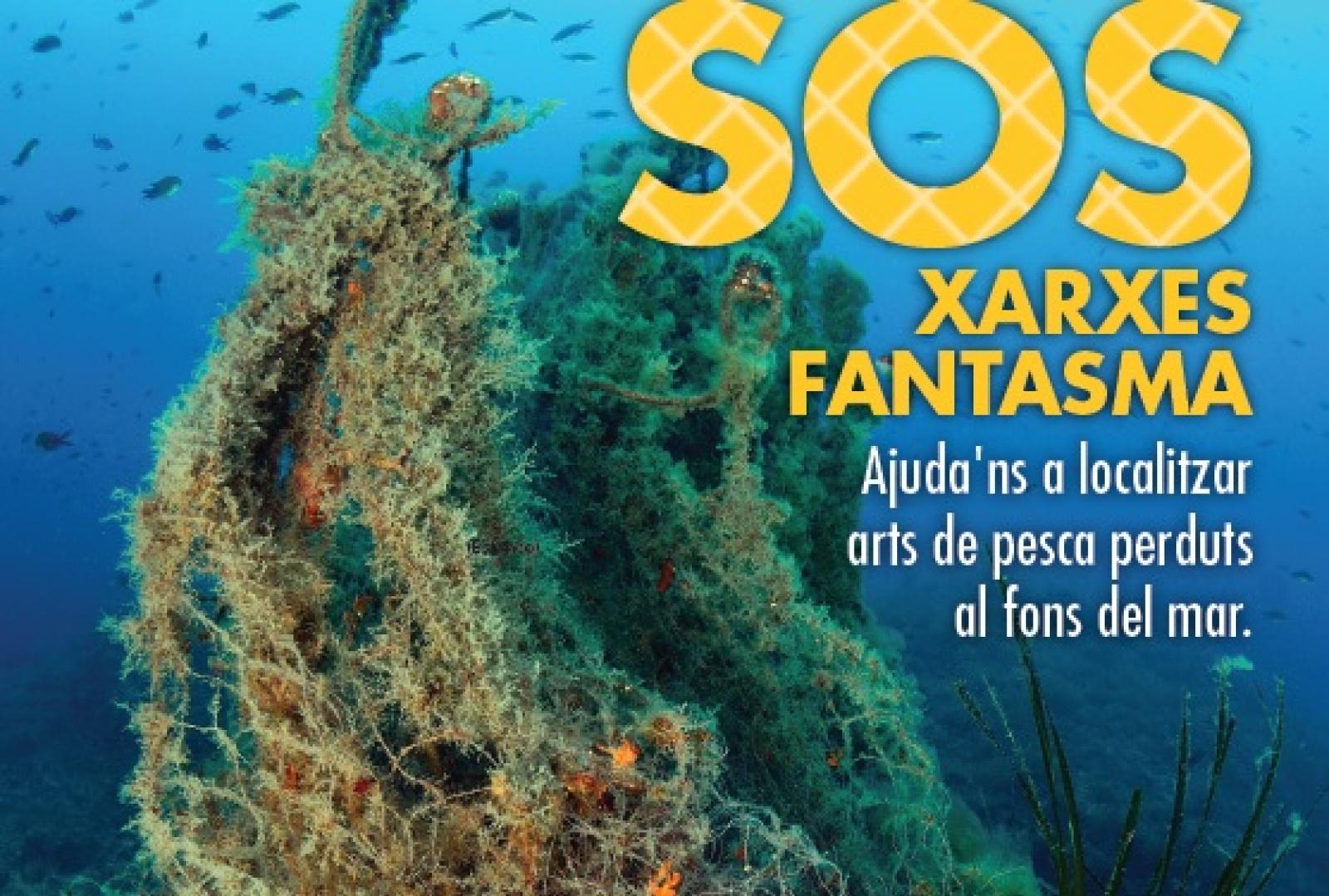 Cartell de la campanya per a la localització i retirada d'arts de pesca i xarxes fantasma