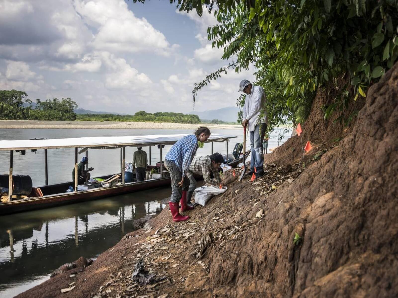 Les ribes del Río Alto Madre de Dios, on s'ha fet la troballa