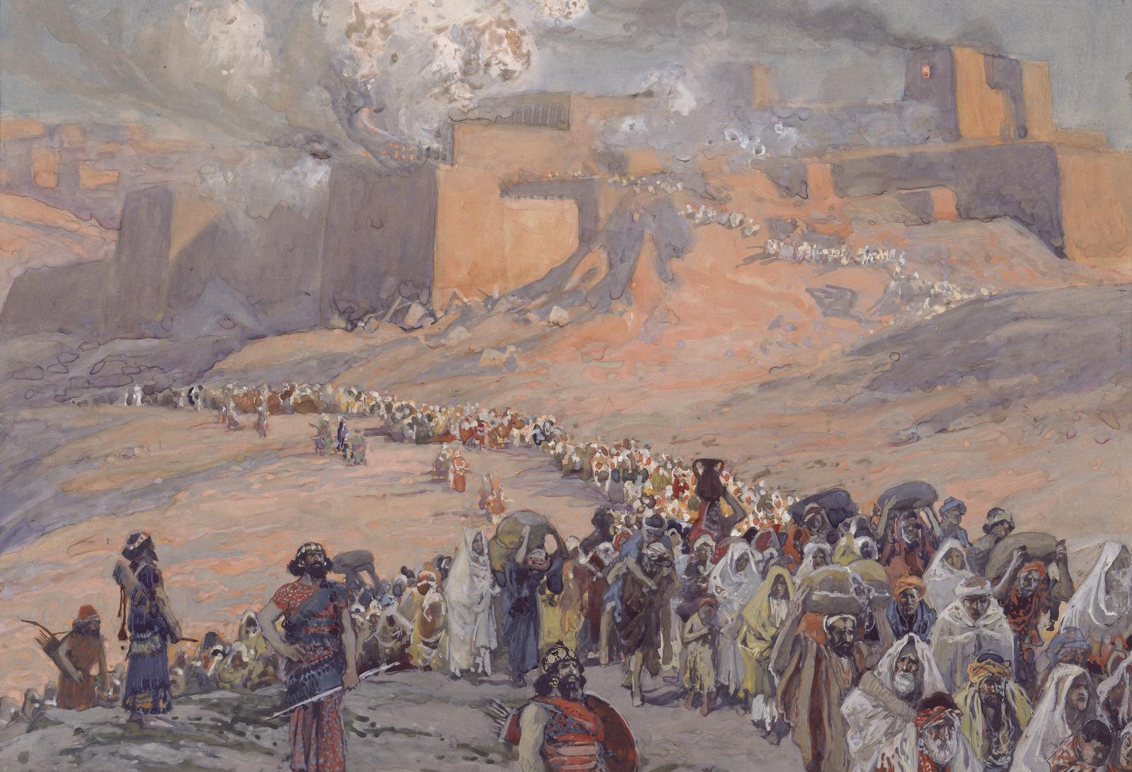 Deportació dels hebreus del regne de Judà a Babilònia després de la destrucció del Temple de Salomó