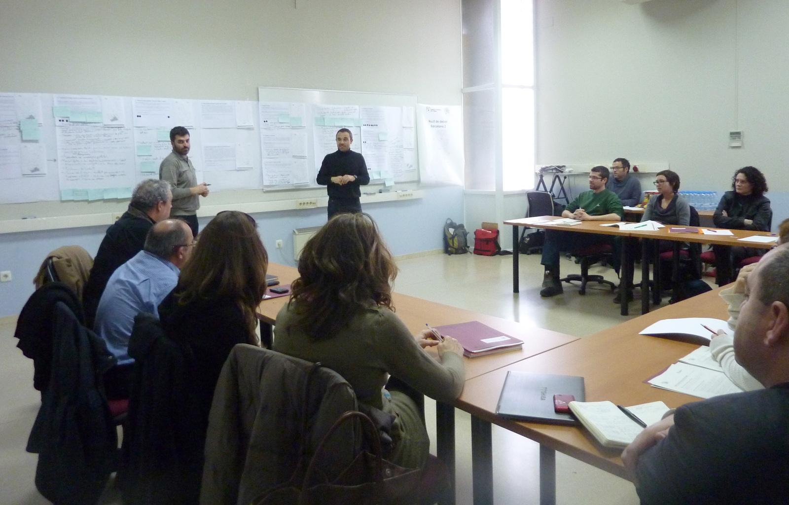 Sessió de debat durant el procés participatiu de l'actual cicle de planificació (2016-2021)