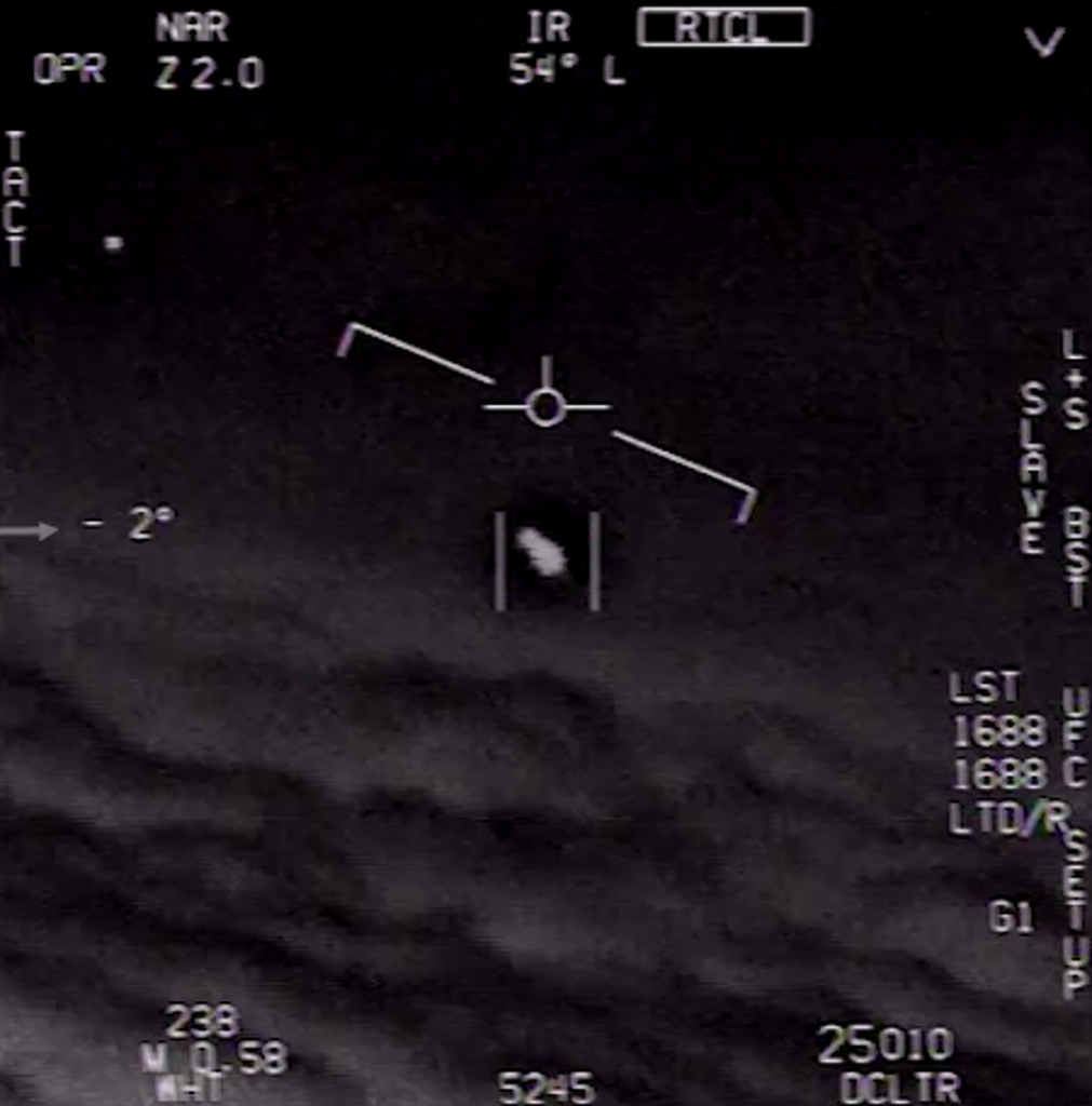 Un dels vídeos d'OVNIS fets públics entre 2017 i 2018