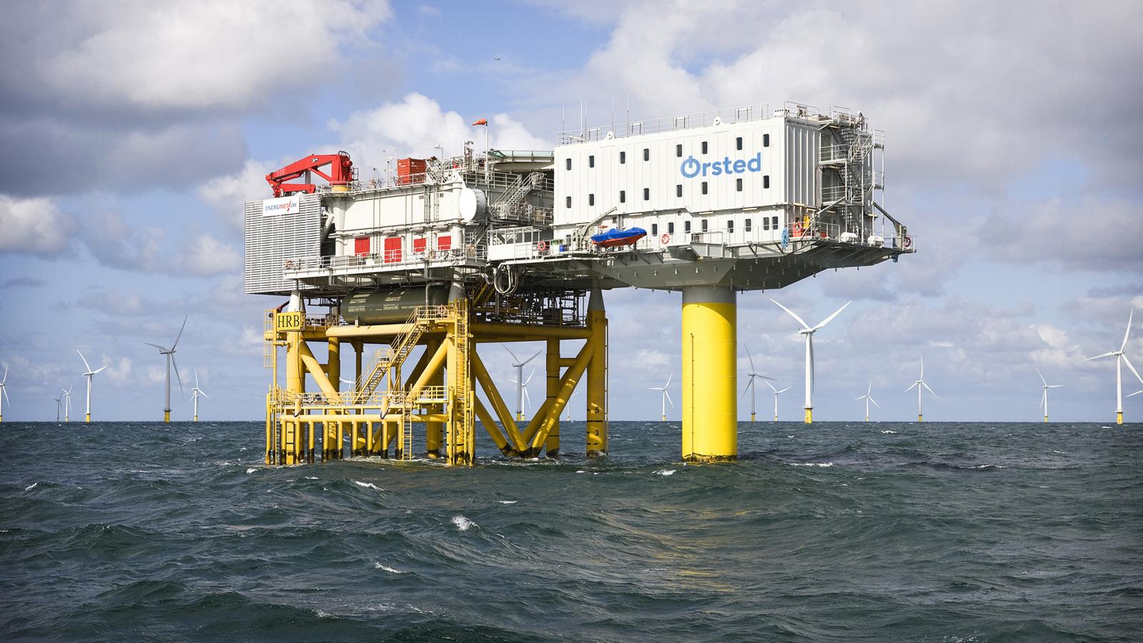 Un dels parcs eòlics marins que Orsted té a les costes de Dinamarca