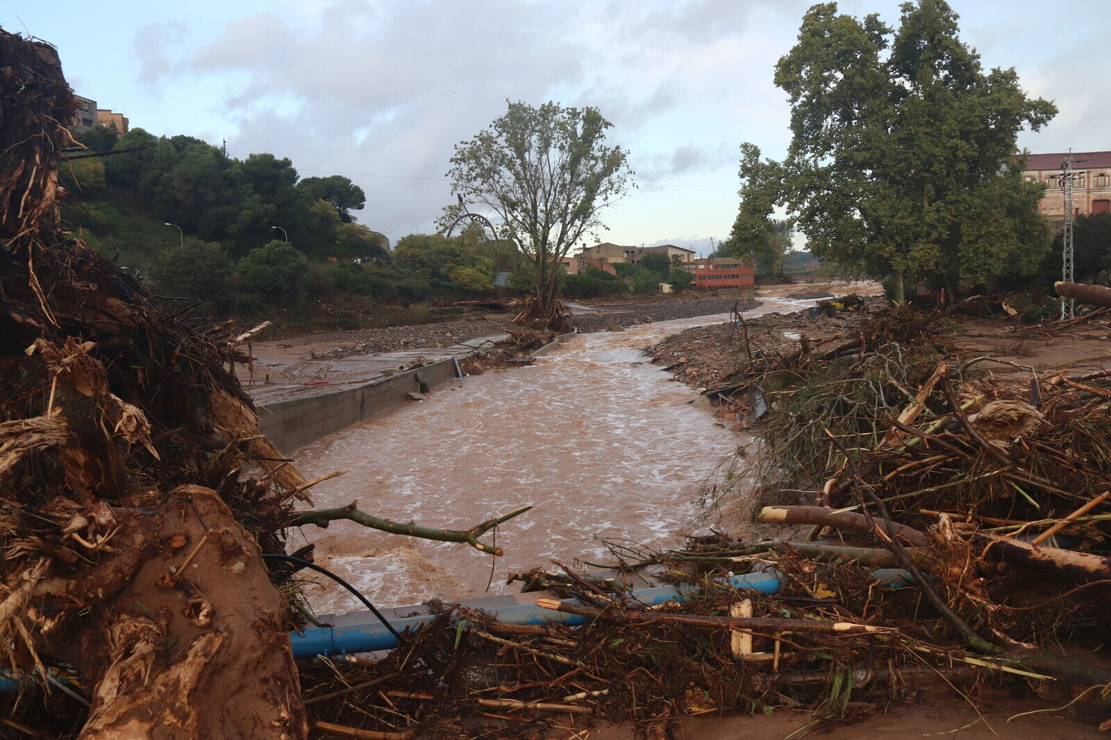 L'Espluga de Francolí ha estat un dels municipis més afectat per la crescuda del riu d'aquest dimarts