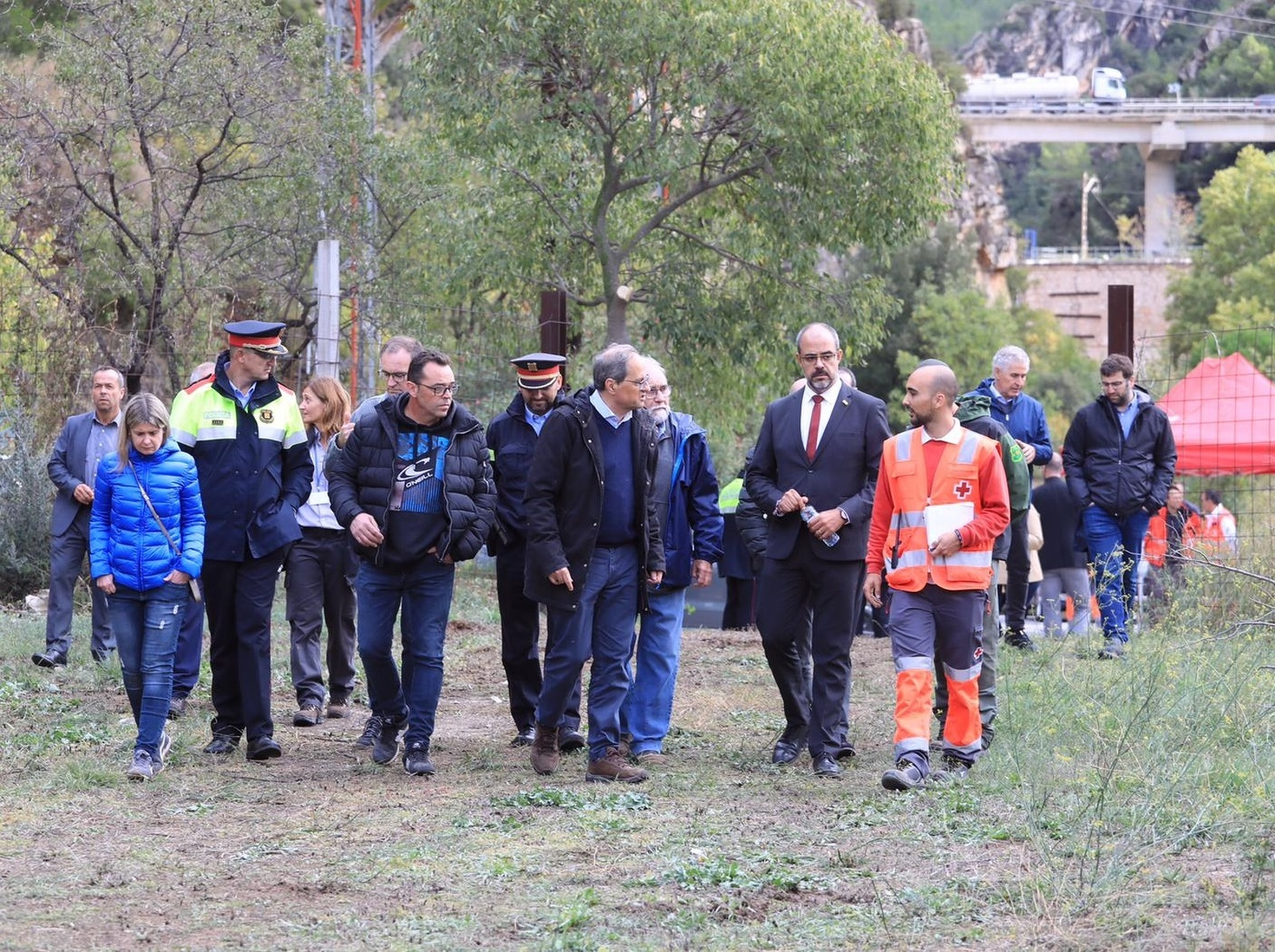 Els president Torra ha visitat algunes de les zones afectades pels aiguats al sub de Catalunya