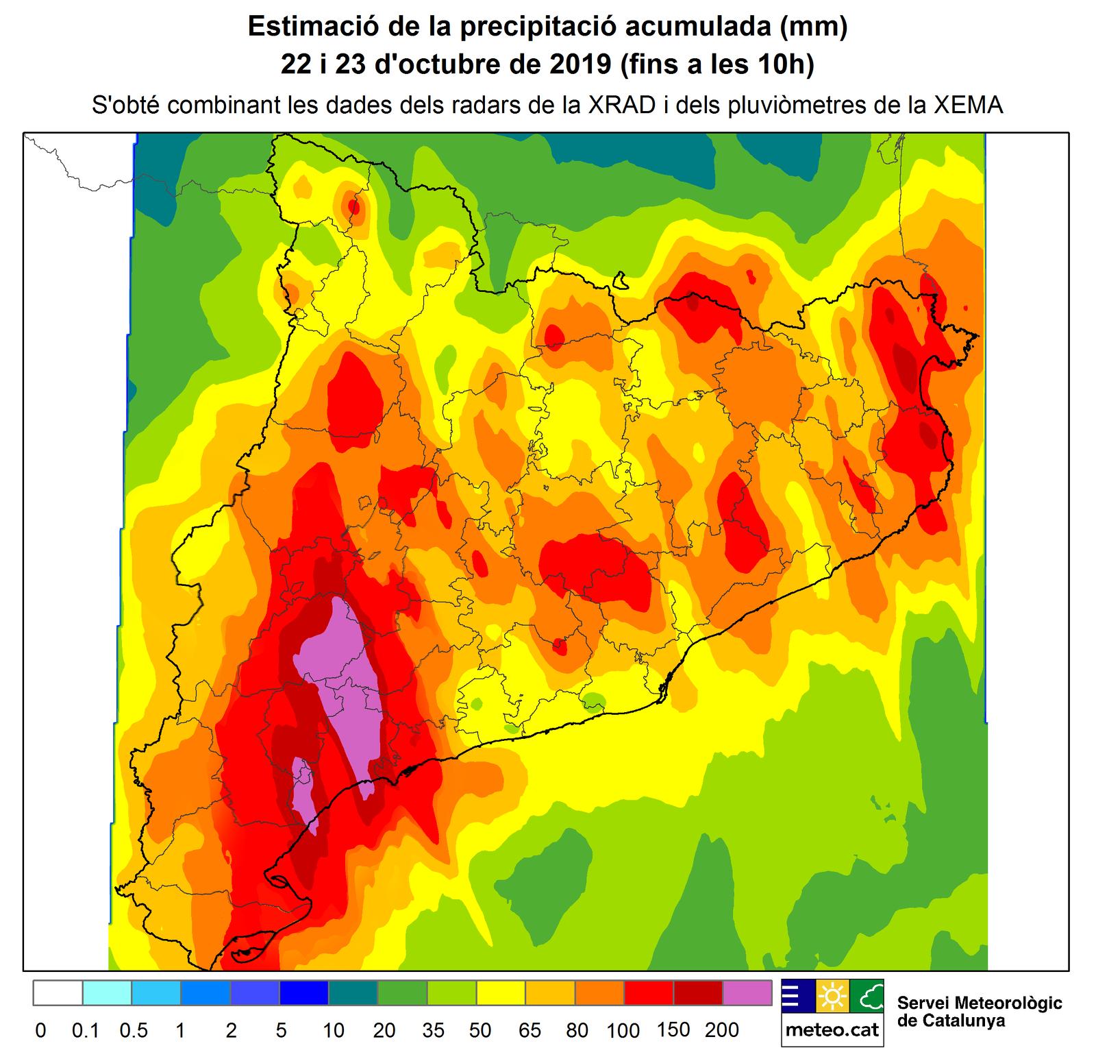 La pluja ha estat general i extraordinàriament abudant a Catalunya