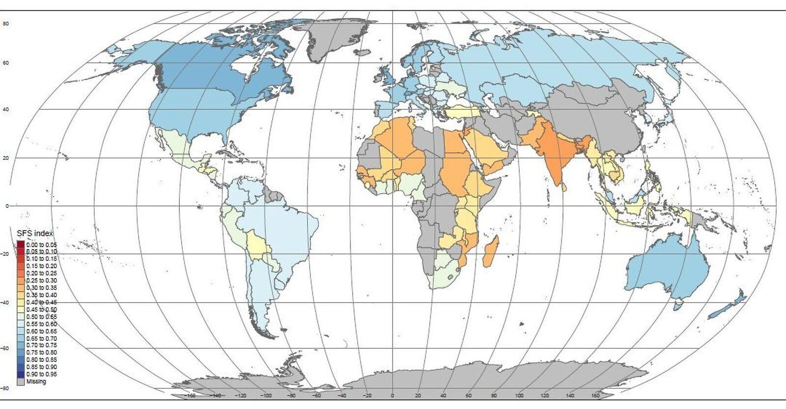 Mapa de la sostenibilitat alimentària mundial